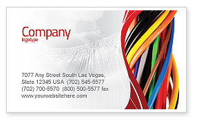 Telecommunication: Cables Business Card Template #06465
