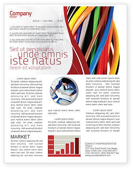 Cables Newsletter Template, 06465, Telecommunication — PoweredTemplate.com