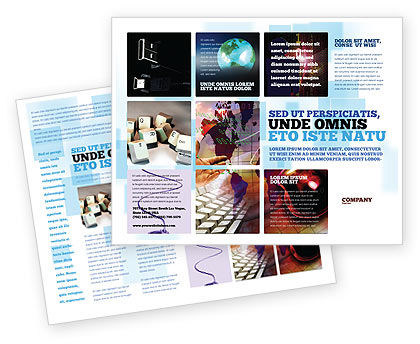 Technology, Science & Computers: Internet eCommerce Technology Brochure Template #06475