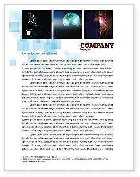 Technology, Science & Computers: Internet eCommerce Technology Letterhead Template #06475