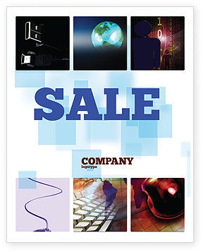 Internet eCommerce Technology Sale Poster Template, 06475, Technology, Science & Computers — PoweredTemplate.com