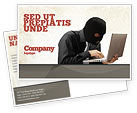 Legal: Hacking Postcard Template #06485
