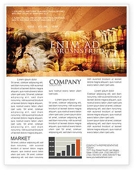 Flags/International: Italian Renascence Newsletter Template #06488