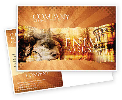 Italian Renascence Postcard Template, 06488, Flags/International — PoweredTemplate.com