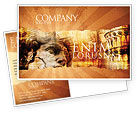 Flags/International: Italian Renascence Postcard Template #06488