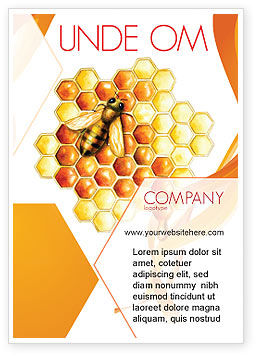 Nature & Environment: Beehive Ad Template #06490