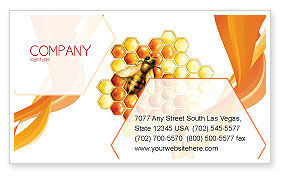 Beehive Business Card Template, 06490, Nature & Environment — PoweredTemplate.com
