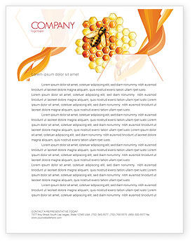 Nature & Environment: Beehive Letterhead Template #06490
