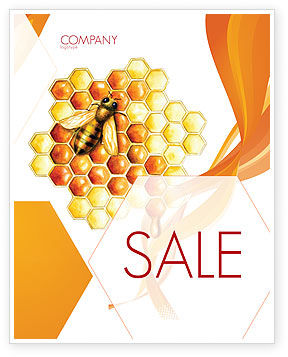 Nature & Environment: Beehive Sale Poster Template #06490