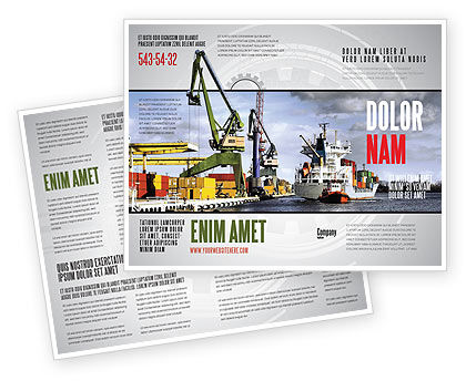 Shipyard Brochure Template, 06499, Cars/Transportation — PoweredTemplate.com