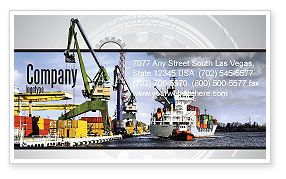 Cars/Transportation: Shipyard Business Card Template #06499