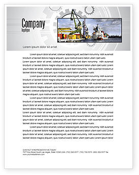 Cars/Transportation: Shipyard Letterhead Template #06499