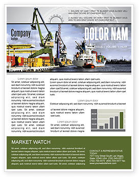 Cars/Transportation: Shipyard Newsletter Template #06499