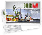 Cars/Transportation: Shipyard Postcard Template #06499