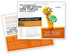 Education & Training: Man With A Stack Of Book Brochure Template #06524