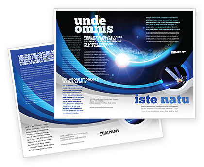Technology, Science & Computers: Blue Sunset in Space Brochure Template #06527