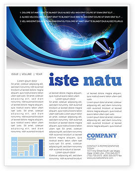 Blue Sunset in Space Newsletter Template, 06527, Technology, Science & Computers — PoweredTemplate.com