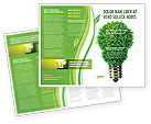 Technology, Science & Computers: Green Eco Lamp Brochure Template #06530