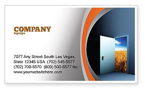 Consulting: Open Door To The World Business Card Template #06533