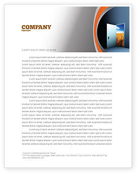 Consulting: Open Door To The World Letterhead Template #06533