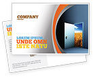 Consulting: Open Door To The World Postcard Template #06533