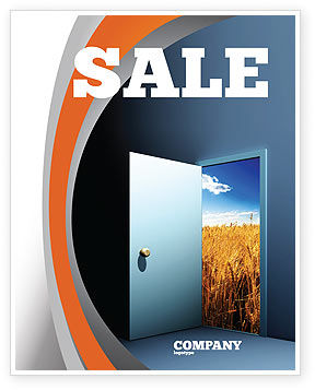 Open Door To The World Sale Poster Template, 06533, Consulting — PoweredTemplate.com