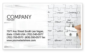 Financial Planning Business Card Template, 06534, Consulting — PoweredTemplate.com