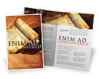 Education & Training: Ancient Scroll Brochure Template #06539