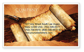 Ancient Scroll Business Card Template, 06539, Education & Training — PoweredTemplate.com