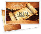 Education & Training: Ancient Scroll Postcard Template #06539