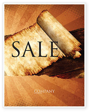 Ancient Scroll Sale Poster Template, 06539, Education & Training — PoweredTemplate.com