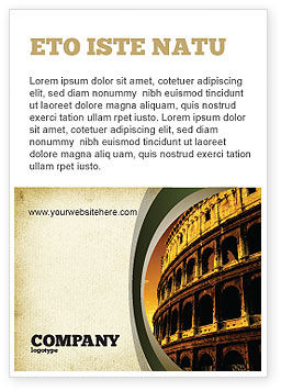 Construction: Colosseum Advertentie Template #06549