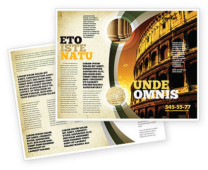 Colosseum Brochure Template, 06549, Construction — PoweredTemplate.com
