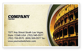 Construction: Colosseum Business Card Template #06549