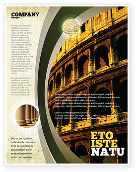 Colosseum Flyer Template, 06549, Construction — PoweredTemplate.com