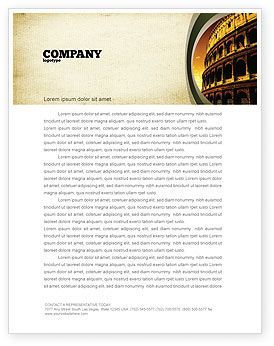 Construction: Colosseum Letterhead Template #06549