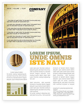 Colosseum Newsletter Template, 06549, Construction — PoweredTemplate.com