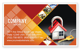 Financial/Accounting: Turnkey House Business Card Template #06556