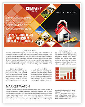 Turnkey House Newsletter Template, 06556, Financial/Accounting — PoweredTemplate.com