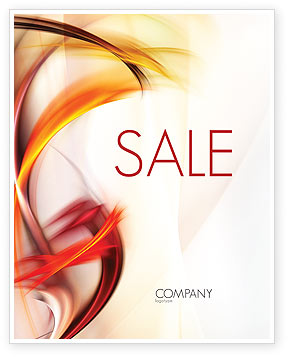 Yellow Swirls Sale Poster Template, 06558, Abstract/Textures — PoweredTemplate.com
