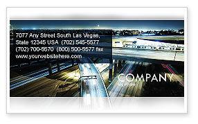 Construction: 交界处高速公路名片模板 #06566