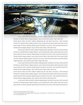 Construction: Junction On Highway Letterhead Template #06566