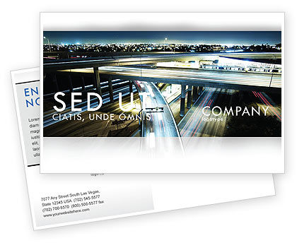 Junction On Highway Postcard Template