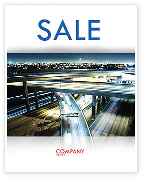 Construction: Junction On Highway Sale Poster Template #06566