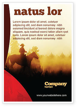 America: Cowboy Rider Ad Template #06571