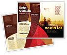 America: Plantilla de folleto - jinete de vaquero #06571