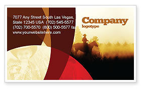 America: Cowboy Rider Business Card Template #06571