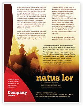 Cowboy Rider Flyer Template, 06571, America — PoweredTemplate.com