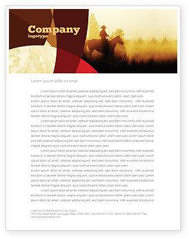 Cowboy Rider Letterhead Template, 06571, America — PoweredTemplate.com