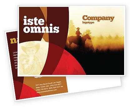 America: Modelo de cartão postal - cavaleiro de cowboy #06571